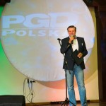 Zygmunt Hajzer na evencie w Krakowie. Fotograf na event.