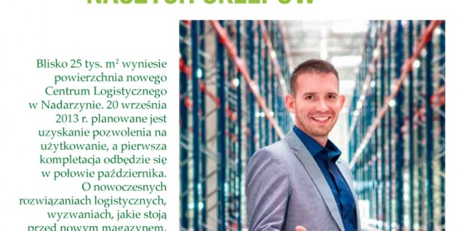 fotografai reklamowa magazynu. Na zdjęciu dyrektor zarządzający.