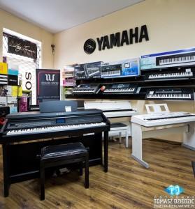 Street View w sklepie muzyczny Music Shop
