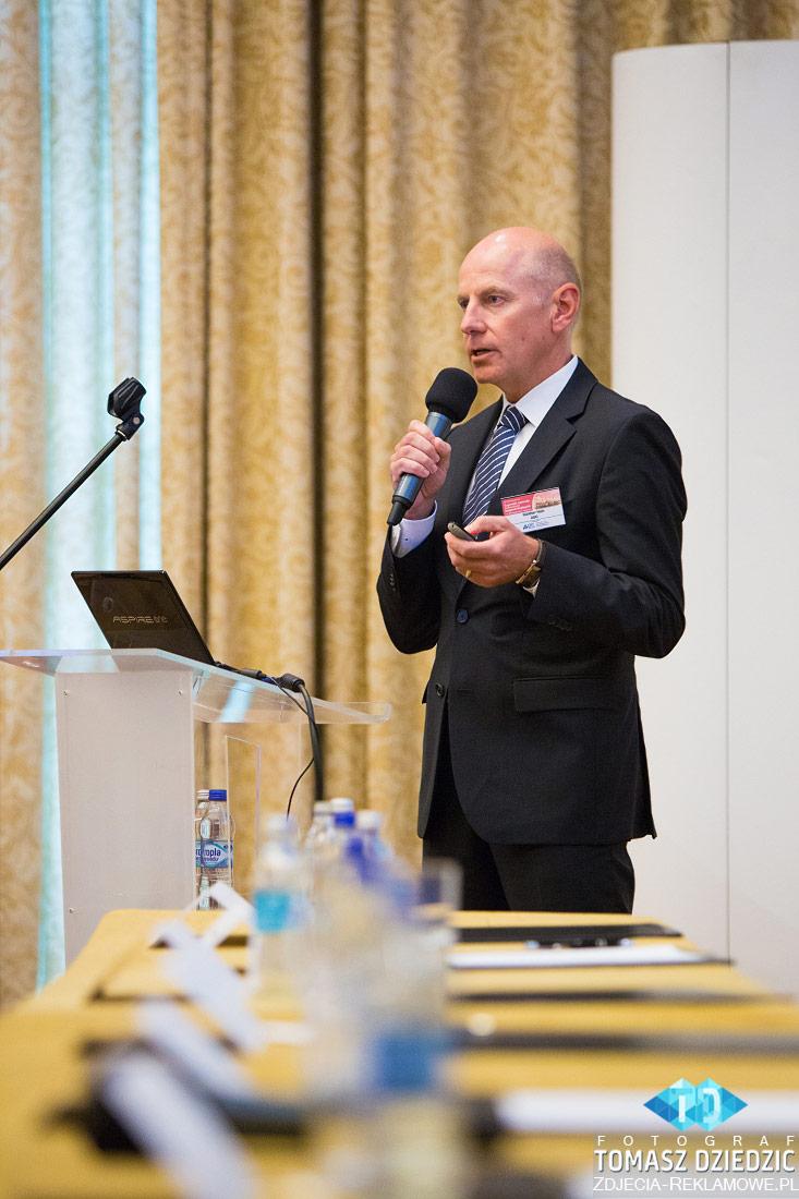 Sala konferencyjna w InterContinental hotel w Warszawie.