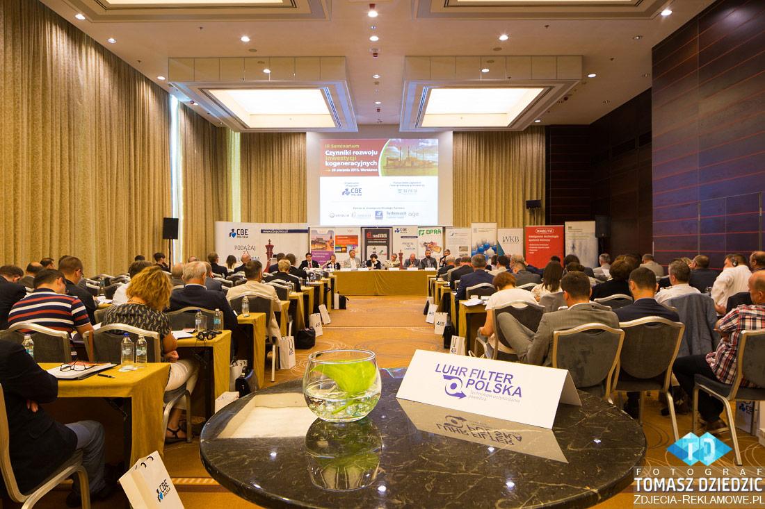 Widok na sale konferencyjną Warszawa