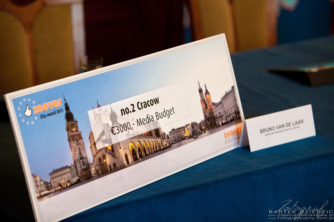 Obsługa konferencji Kraków. Nagroda za zajęcie 3 miejsca dla miasta Kraków