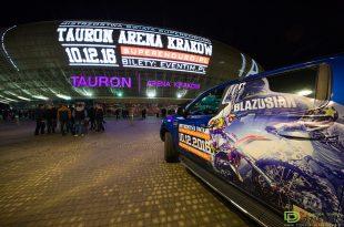 Kraków Arena z zewnątrz. Zdjęcie wykonane podczas Mistrzostw Tauron Areny.