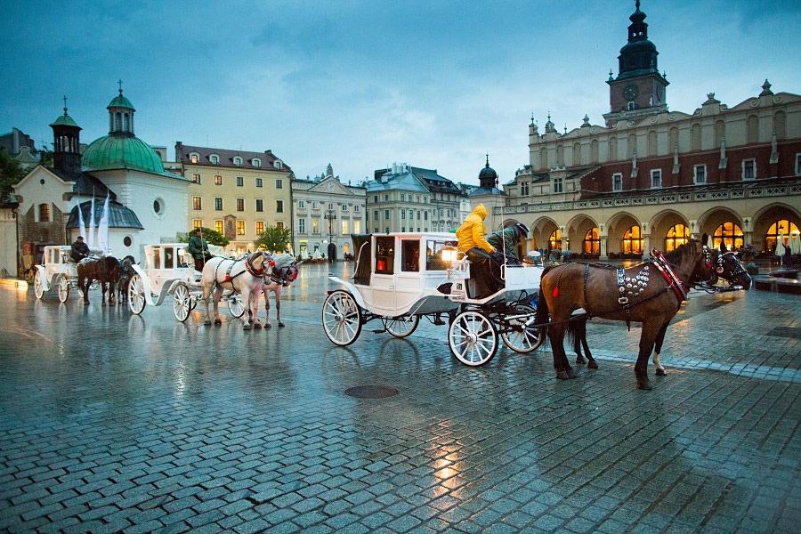 Kraków Rynek Główny Dorożki Impreza Firmowa