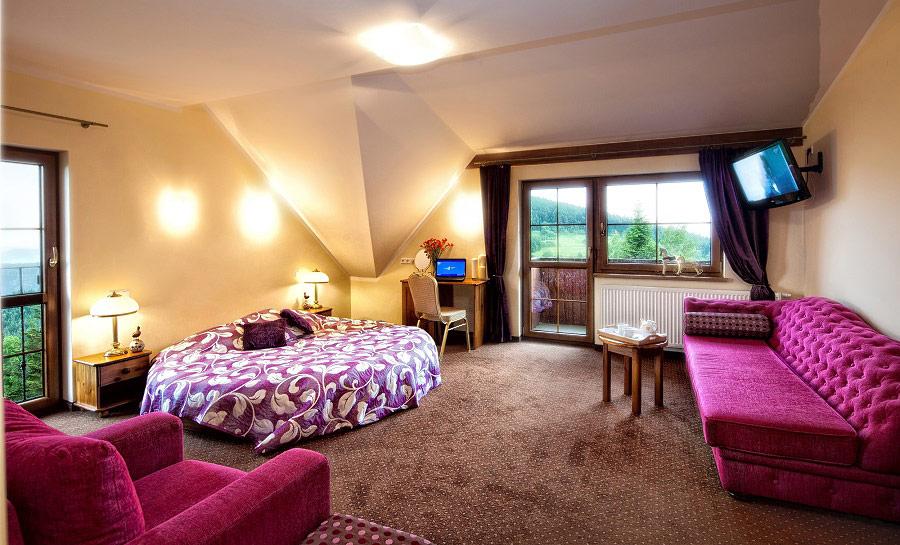 Pokój hotelowy w Beskidzkim Raju Zawoja
