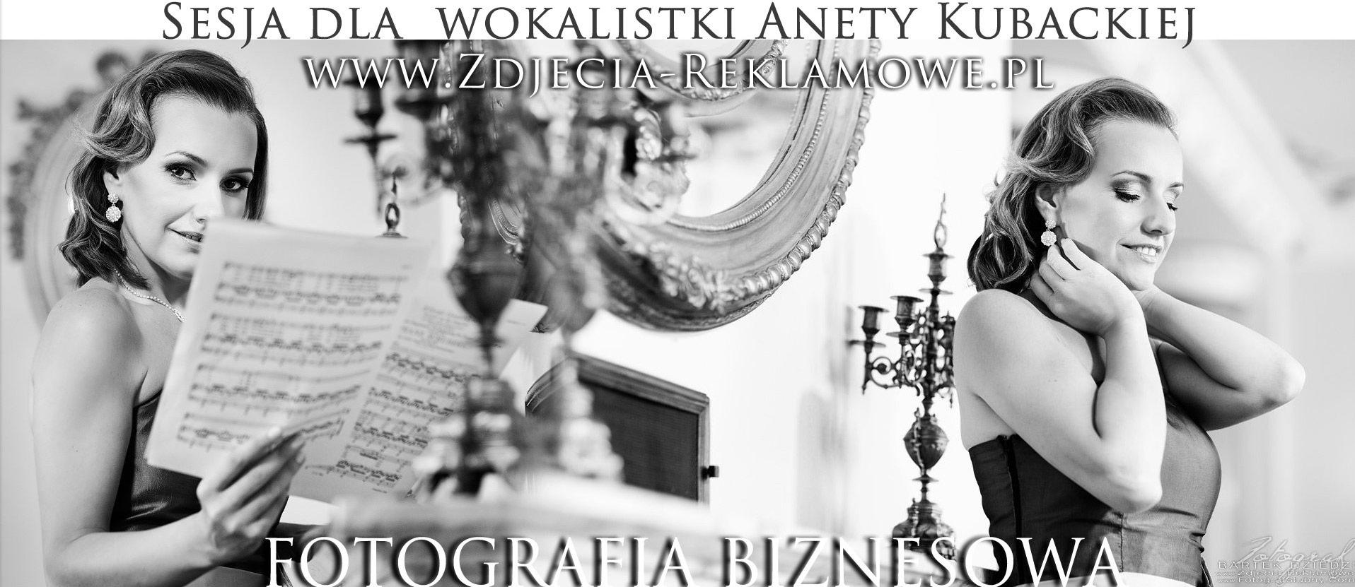 Fotografia biznesowa Kraków. Sesja zdjęciowa dla wokalistki Anety Kubackiej. Sesje zdjęciowe dla firm. Profesjonalny Fotograf