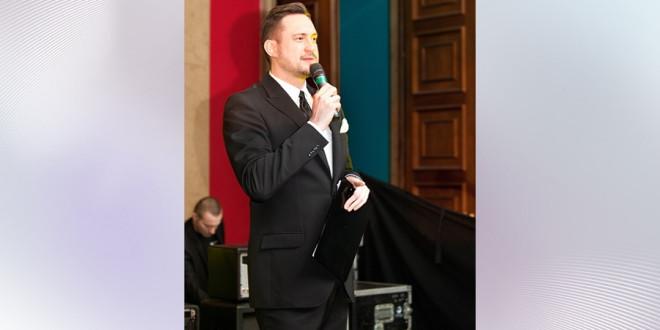 Marcin Prokop konferansjer na imprezie firmowej
