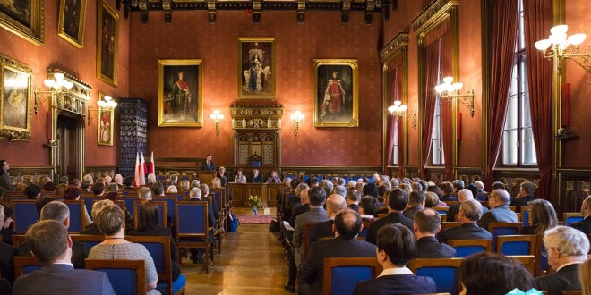 Fotografia Reklamowa Konferencja. Zdjęcie z konferencji na Uniwersytecie Jagielońskim w Krakowie