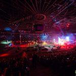 Event Kraków Tauron Arena. Obsługa fotograficzna na zdjęciu widok ogólny na wnętrze areny.