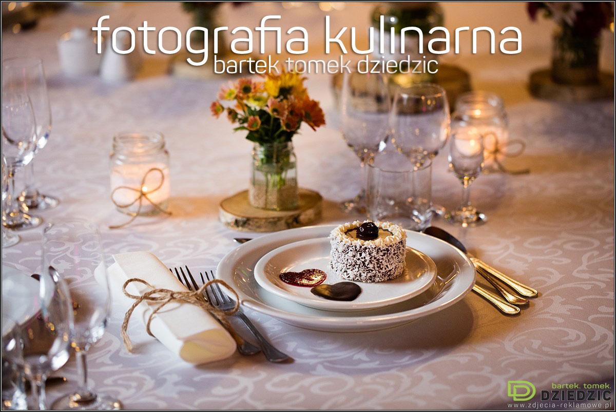Fotografia potraw Kraków- Zdjęcie potrawy z aranżacją na stole.