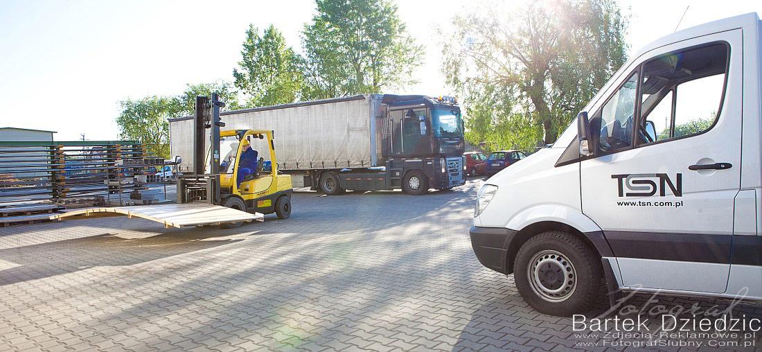 TSN. Plac manewrowy zdjęcia przemysłowe TSN.