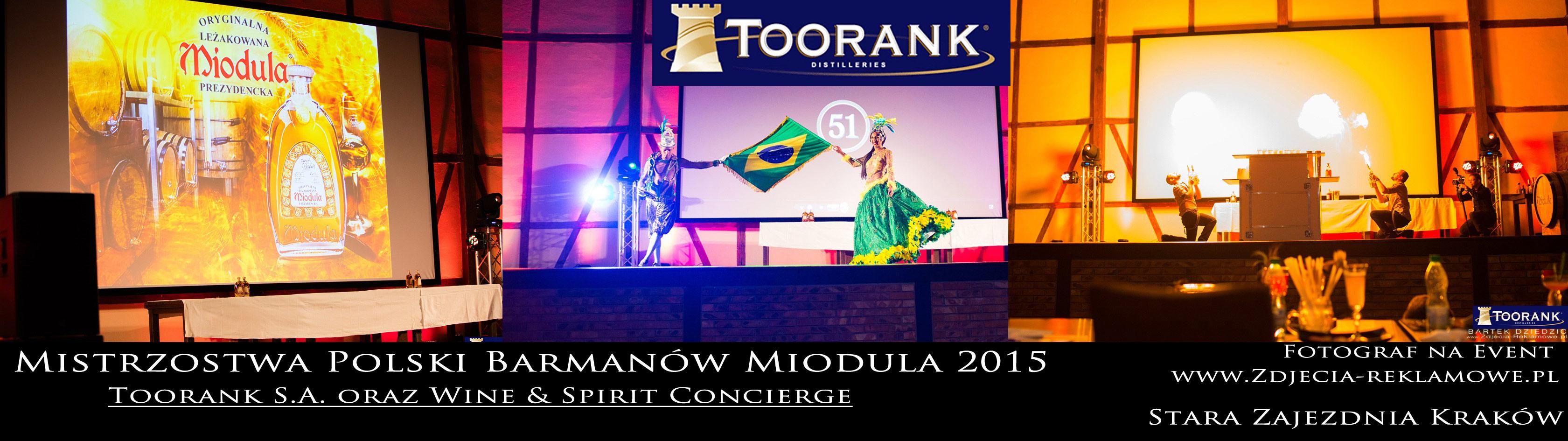 Miodula 2015. Kraków Stara Zajezdnia. Mistrzostwa Polski Barmanów.